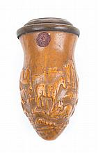 Chinese molded gourd &carved; rosewood cricket box