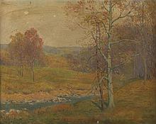 William R.C. Wood. Autumnal Landscape, oil