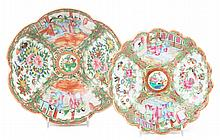 Two Chinese Export Rose Medallion scalloped bowls