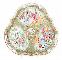 Chinese Export Rose Medallion porcelain tray
