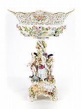 Carl Thieme porcelain figural compote