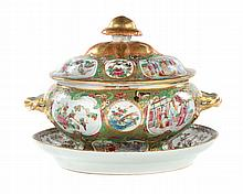 Chinese Export Rose Medallion soup tureen