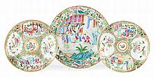 3 Chinese Export porcelain plates