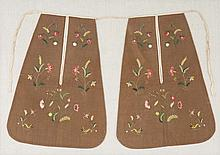 Pair of 19th c. American needlework pockets