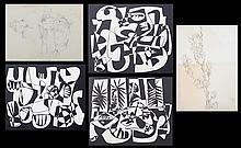 Keith Martin. Five unframed lithos and drawings