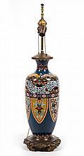 Chinese cloisonne enamel vase lamp