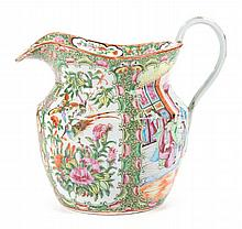Chinese Export Rose Medallion porcelain jug