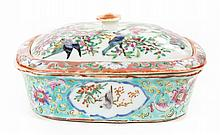 Chinese Export porcelain Famille Rose soap dish