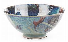 Kayo O'Young. Blue Glazed Ceramic Bowl