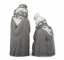 Two Lladro Gres Chinese figures