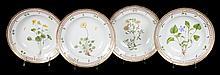 4 Royal Copenhagen Flora Danica soup bowls