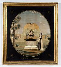 American needlework mourning picture