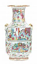 Chinese Export Rose Mandarin porcelain vase