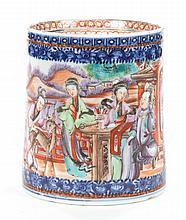 Chinese Export Mandarin palette porcelain cann