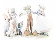 Two Lladro porcelain figure groups