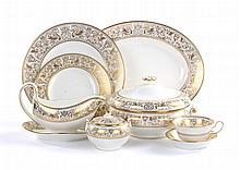 Wedgwood china Gold Florentine dinner service