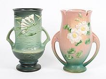 Two Roseville art pottery vases