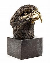 Contemporary bronze eagle head