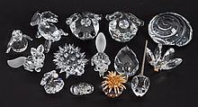 14 Swarovski cut crystal animals