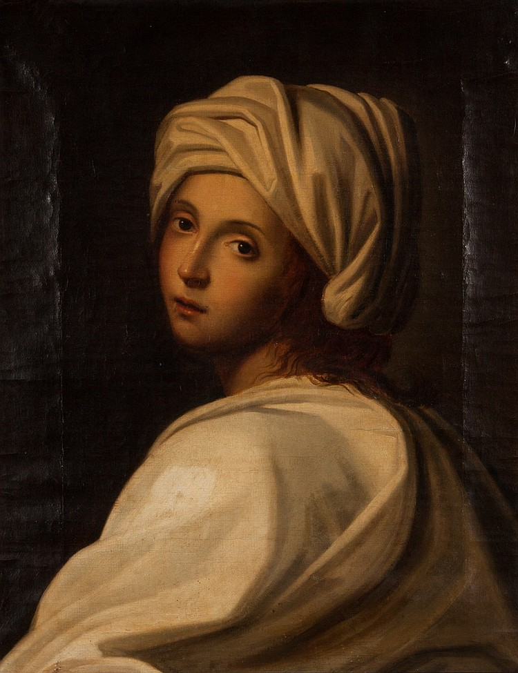 After Guido Reni Beatrice Cenci Oil On Canvas