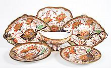 7 Derby china table articles in the Imari taste