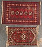 Two rugs; one Hamadan rug and one Bohkara rug