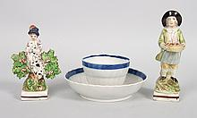 Two Staffordshire pearlware items