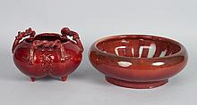 Chinese porcelain and ceramic bowl and vase