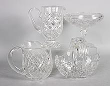 Four Waterford crystal table articles