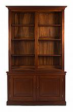 Cabinet made Chippendale style walnut bookcase