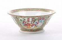 French bowl with Rose Medallion decoration
