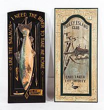 Fish Carvings Sign