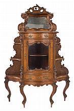 American Rococo Revival walnut etagere