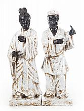 Pair of Italian Japanese style porcelain guardians