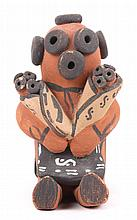 Native American pottery Mudhead storyteller