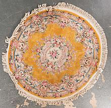 Chinese round rug, approx. 6 ft. Diam.