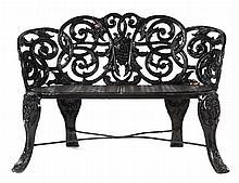 Victorian cast iron garden bench
