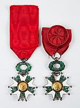 Two French Legion of Honor medals