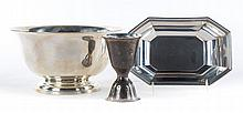 Three American sterling silver table articles