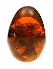 A Solid Russian Amber Egg