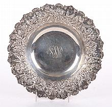 Kirk hand decorated sterling silver bowl