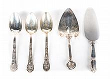 19th century sterling & coin silver serving pieces