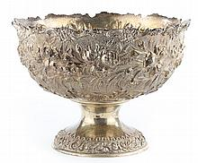 Stieff repousse sterling silver center bowl