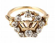 A Lady's Masonic Ring with Diamonds