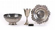 Tiffany sterling silver bowl & nut dish