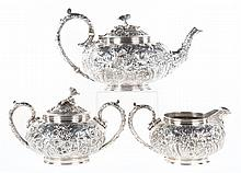 Kirk sterling silver 3-piece tea set