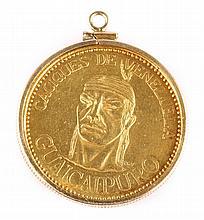 A Gold Coin Pendant from Venezuela