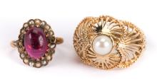 A Lady's Pearl Ring and a Pinky Ring