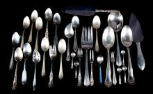 Assorted sterling and coin silver flatware