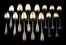 American & Continental silver demitasse spoons